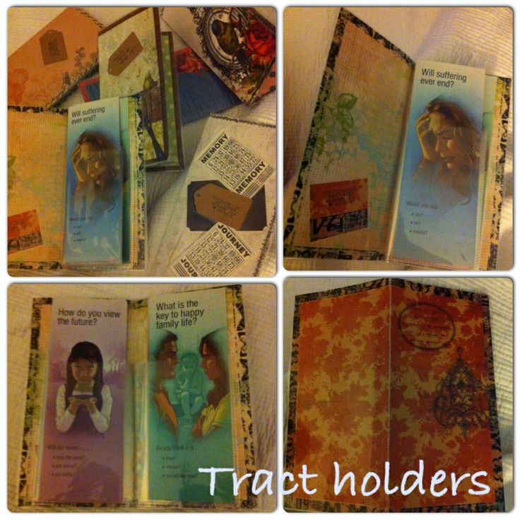 Tract holders im making - laminated scrapping paper with washi tape edging and then plastic sleeves sewn in pretty happy with the end result thanks to my pal who taught me how to make them :)