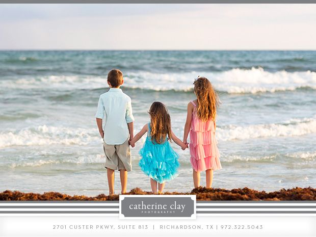 Sibling beach pictures, Florida, beach clothing ideas, children beach photography, Watercolor pictures, Seaside pictures, family beach pictures // Catherine Clay Photography