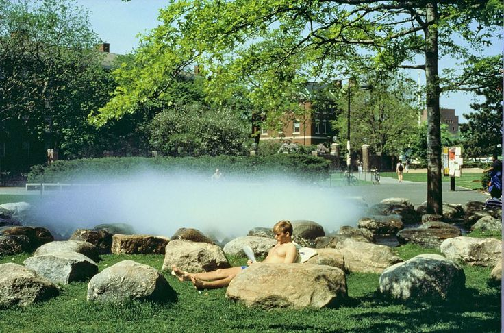 Tanner fountain by peter walker havard university for Association of landscape architects