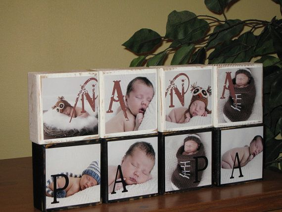 PHOTO BLOCKS PERSONALIZED Gifts for Nana & Papa....making this soon!