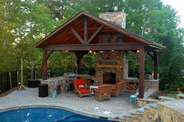 Rustic Outdoor Living Covered Outdoor Rooms Kitchens