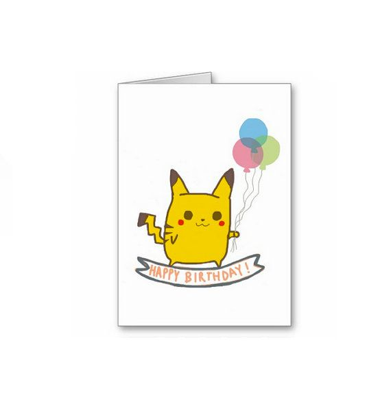 The 25 best Pokemon birthday card ideas – Birthday Pikachu Card