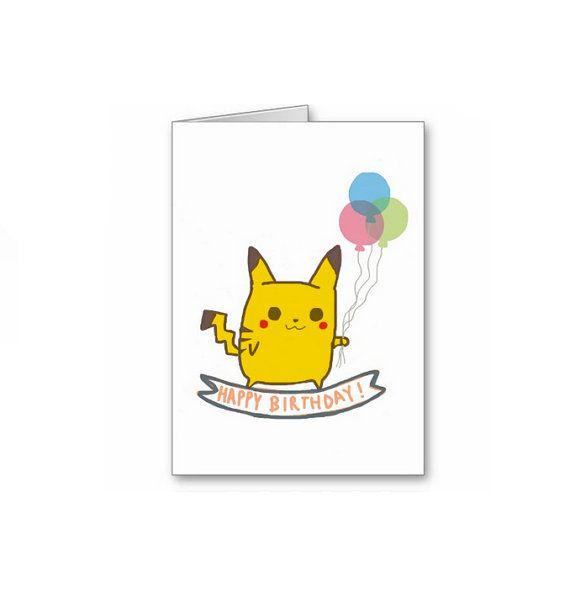 Birthday Cards Pokemon: Pokemon Birthday, Birthday Greetings And Birthday Greeting