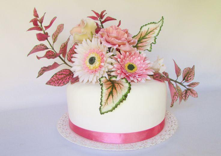 Diseño Floral para tortas  Floressalahi.cl