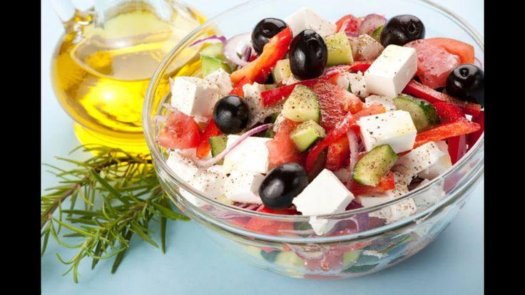 Греческий Салат! Очень вкусный салат с сыром Фета. Греки молодцы!