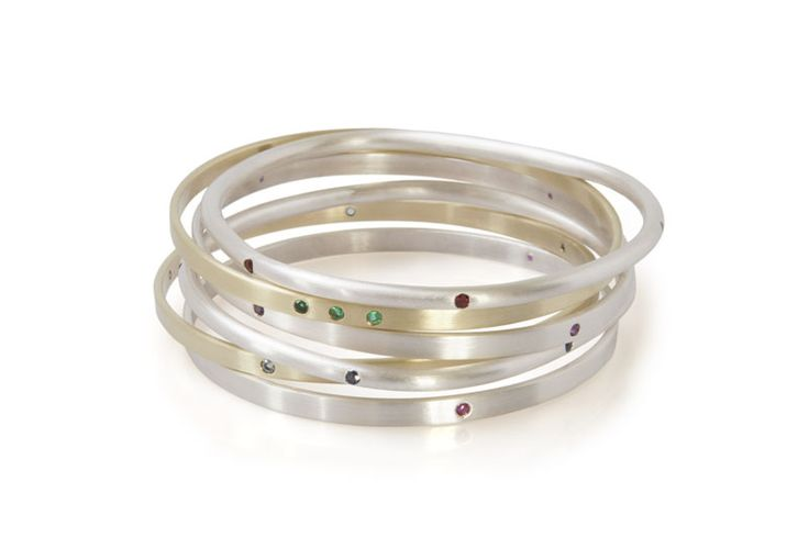 Milame Design Birthstone Bangles. Handmade in South Africa.