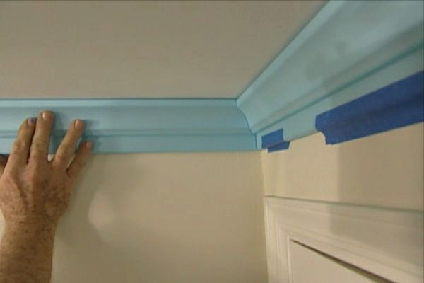 Learn how to install lightweight polystyrene crown molding by yourself.  Wow I can do this myself!