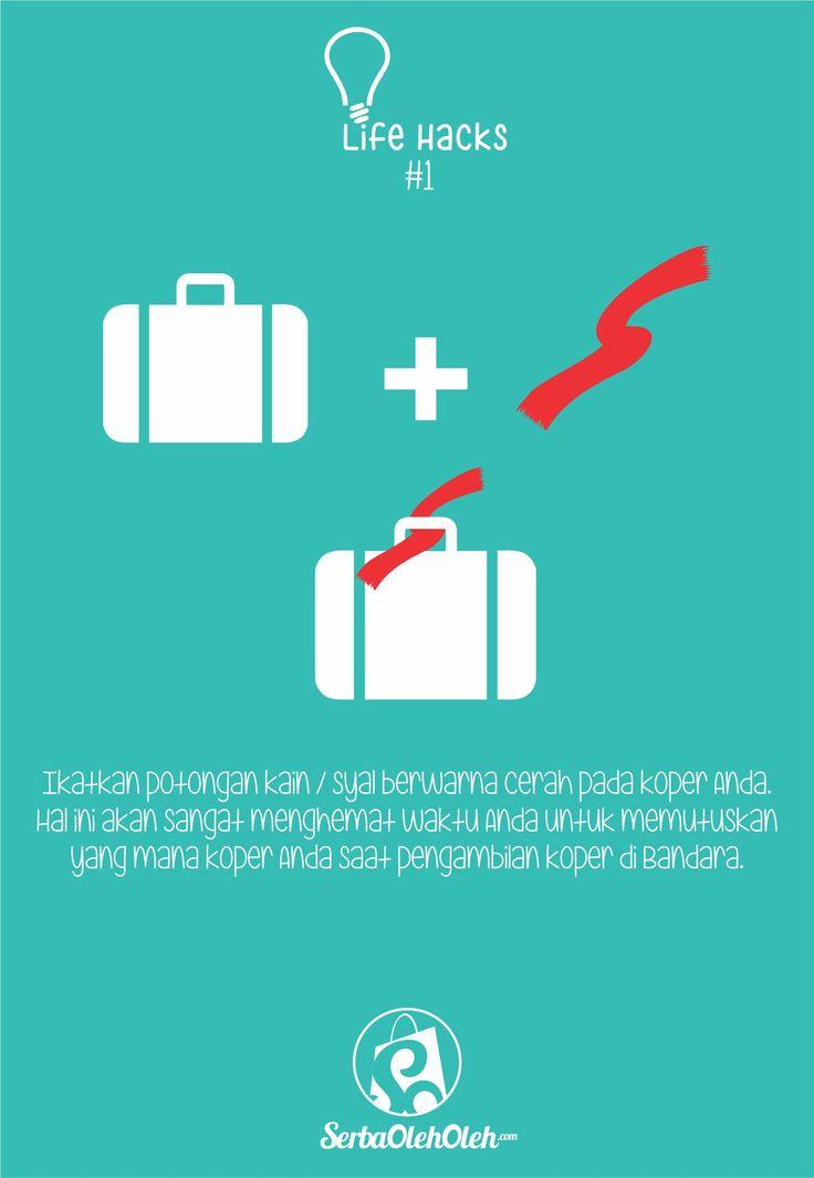 Bagi yang suka traveling, pasti sering banget kan mengalami kebingungan mencari / memilih kopernya sesaat setelah turun dari pesawat, karena memang banyak banget koper yang sama. Ingin tahu solusinya? Simak Life Hacks #1 ini ya! Semoga bisa membantu smile emoticon :) #lifehacks #infografis #infographic