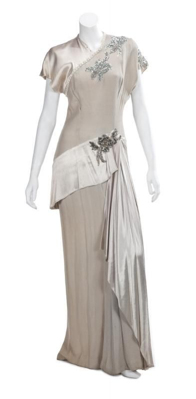 """Hollywood Worn Gown """"One More Tomorrow"""" Alexis Smith"""