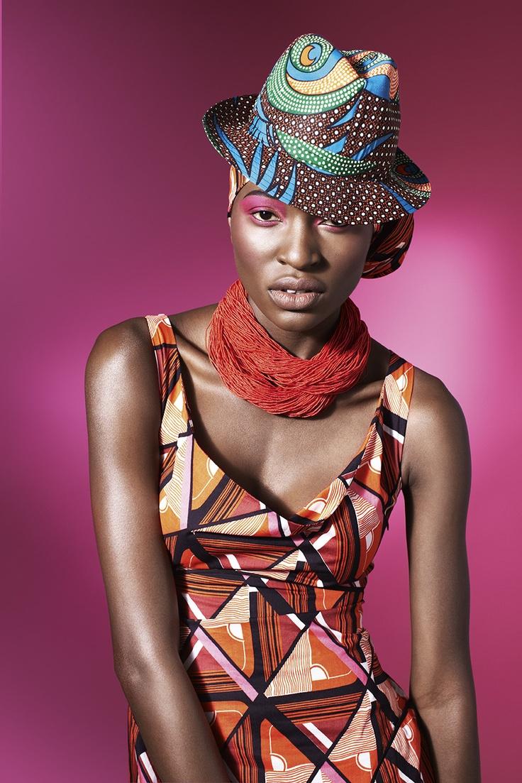 Geometic Shwe-shwe dress in the spirit of Africa
