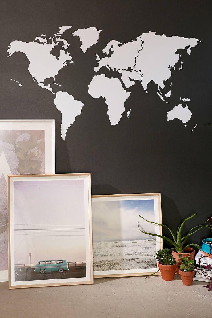 Best 25 world map wall decal ideas on pinterest world map decal walls need love world map wall decal amipublicfo Gallery