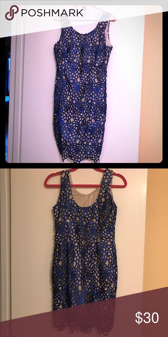 I just added this listing on Poshmark: Minuet blue lace mini with nude underlay dress. #shopmycloset #poshmark #fashion #shopping #style #forsale #Minuet Petite #Dresses & Skirts