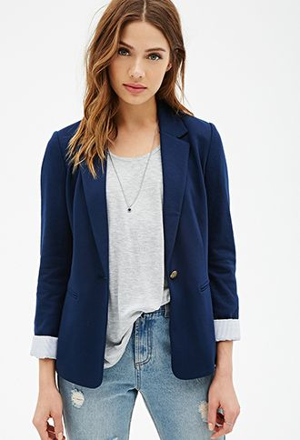 I'm buying this ASAP!! also buying white pants, and nude patent flats and white, yellow and red button up oxford shirts to go with it! and Statement necklaces of course! This blazer can go with just about anything! :D