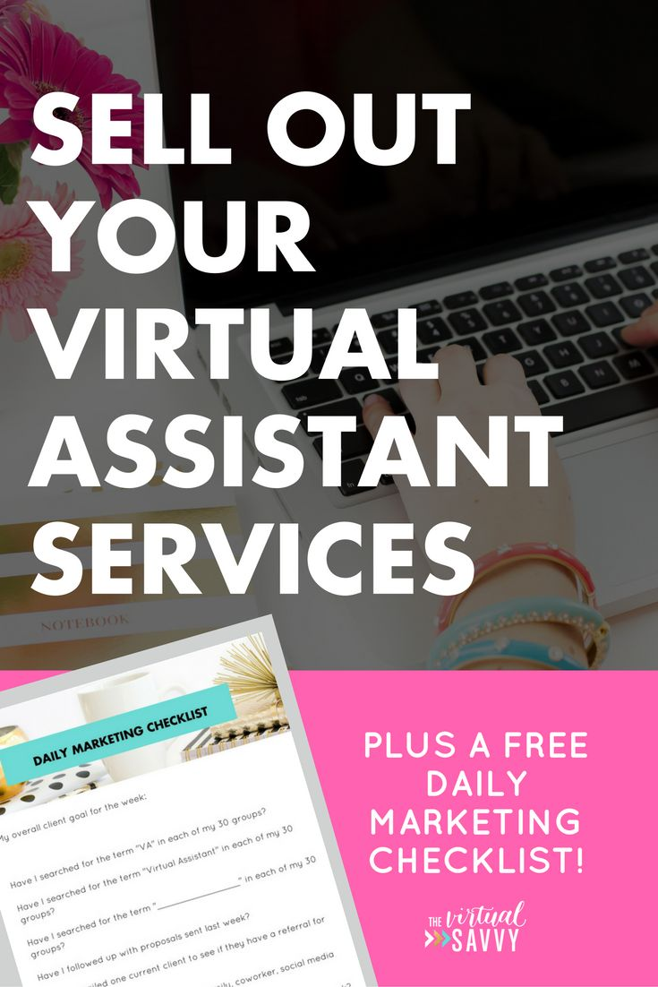 Sell Out Your Services as a Virtual Assistant