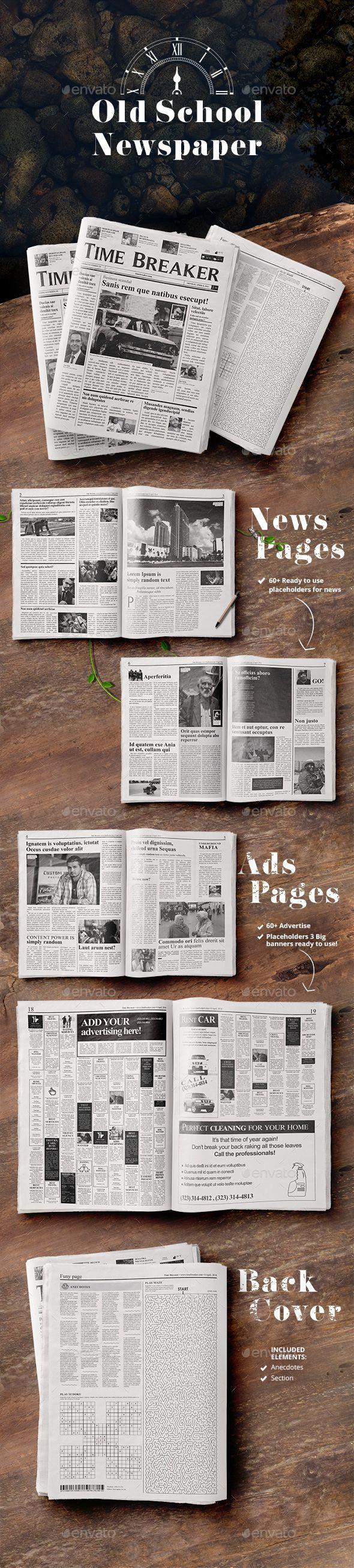 Old School - Newspaper - Newsletters Print Templates Download here : https://graphicriver.net/item/old-school-newspaper/18089051?s_rank=44&ref=Al-fatih