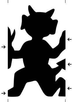 devil paper chain template