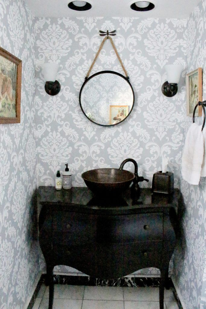 Powder Room Wallpaper Refresh White Cottage Home Living Vintage Bathrooms Amazing Bathrooms Powder Room Wallpaper