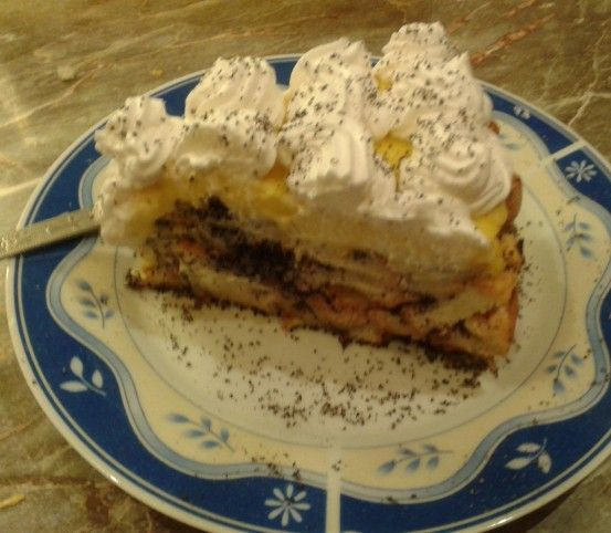 Mákosguba torta vanília krémmel Recept képpel - Mindmegette.hu - Receptek