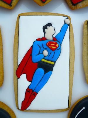 Oh Sugar Events: Superman Cookies