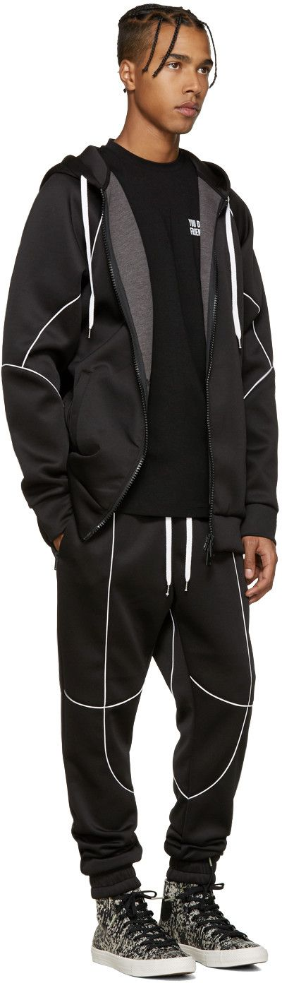 Pyer Moss - Black Flex Zip-Up Hoodie