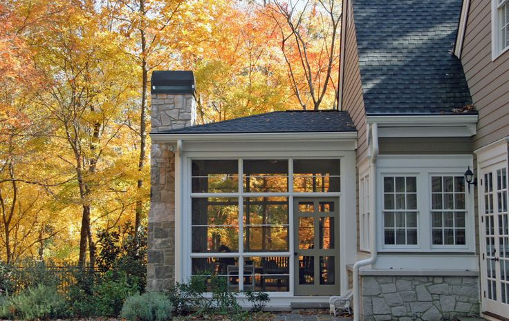 Screened Porch With Fireplace Dream Home Ideas Pinterest Fireplaces Doors And Porches