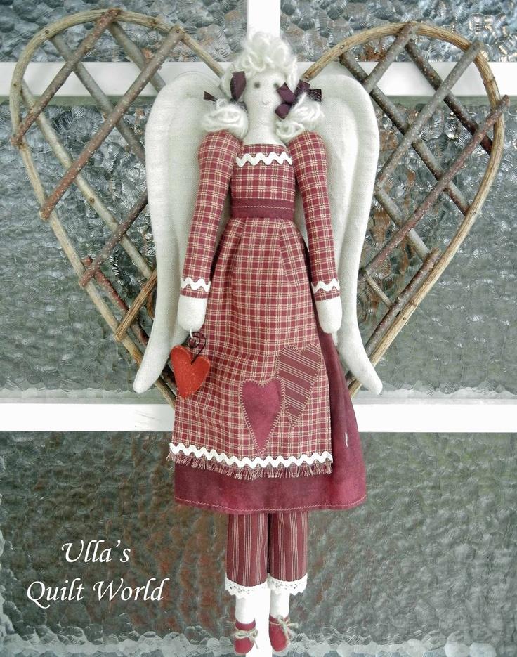 Ulla's Quilt World: Tilda angel, quilt