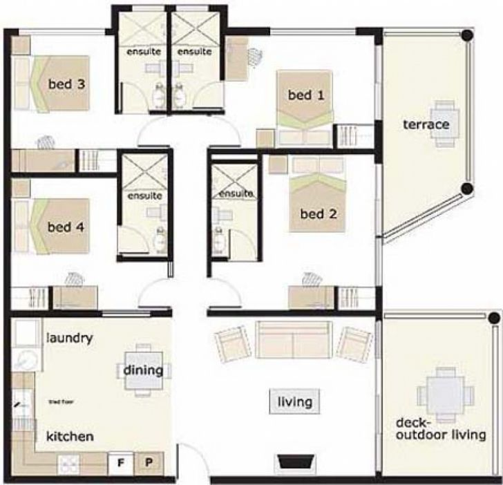 Best 6 Bedroom Bungalow House Plans In Nigeria Fresh 4 Bedroom Duplex 4 Bedroom Bungalow Floor Pla In 2020 Bungalow Floor Plans Bungalow House Plans House Layout Plans