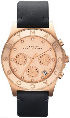 Marc by Marc Jacobs Watch, Women's Chronograph Blade Gray Leather Strap 40mm MBM1188 Marc by Marc Jacobs. $189.13. New MARC by MARC JACOBS MBM1188 Women's Black Leather Strap Rose Gold Tone Watch. Save 16%!