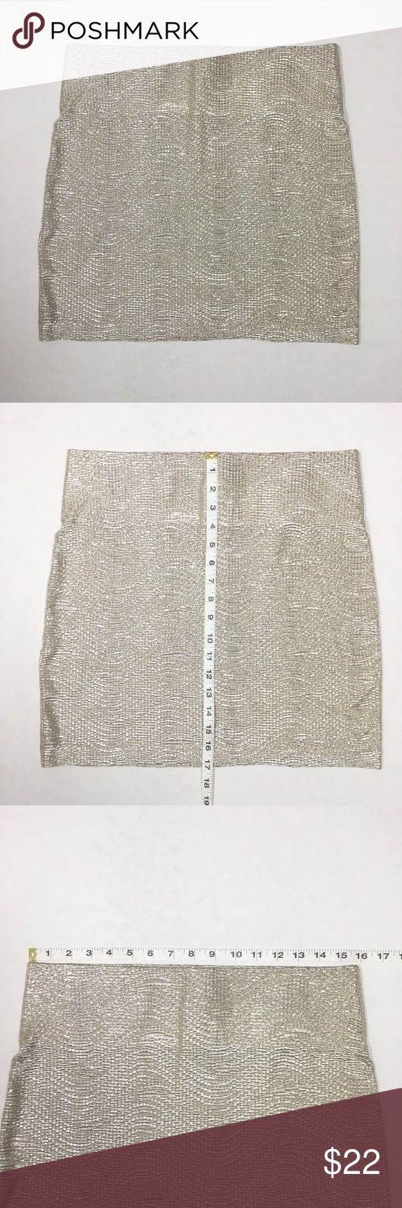 BCBGeneration Skirt Gold Shimmer Size Large Skirt in EXCELLENT condition!!!  All measurements are approximate and taken with item laying flat BCBGeneration Skirts