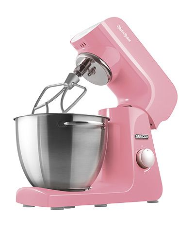 Sencor STM 44 RD stand mixer My color is the radiance of clear ocean water, of love and enthusiasm for life. It will brighten your morning and warm your evenings. It is the color of determination, creativity and dynamic happiness. It will inspire you and spur you on. I have a heart of steel, I'm driven by a reliable 1000W motor, and your wish is my command.