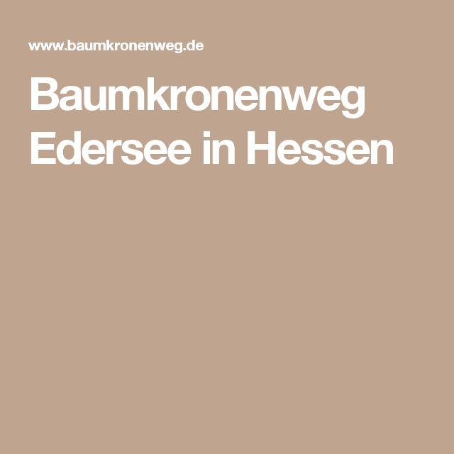 Baumkronenweg Edersee in Hessen