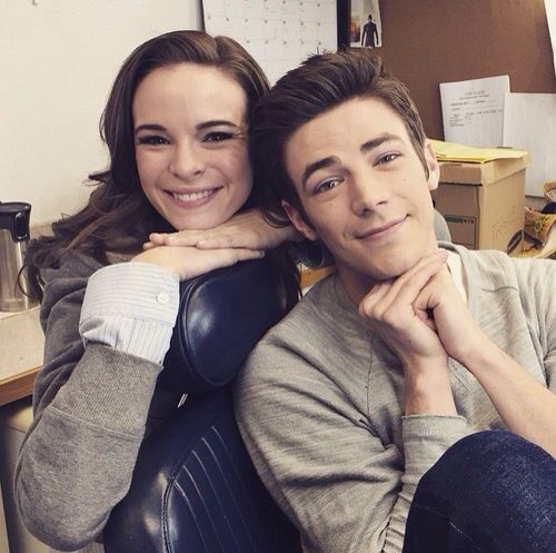 Grant Gustin and Danielle Panabaker