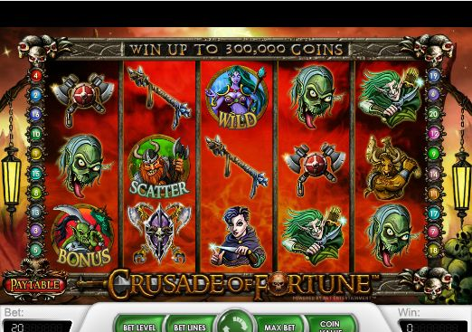 The #CrusadeOfFortune slot bonus game will be triggered if 3+ #Orc symbols show up on a payline. In this round, you will have to choose a high, medium or low attack to fight with the Orc. You can only win a #prize if the Orc is killed. This #bonus game pays out up to 250,000 coins in winnings.