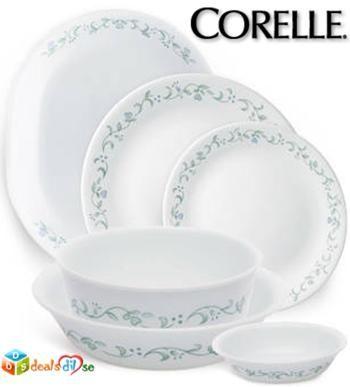 Get 50% Cashback on Corelle Dinner Sets || Livingware Country Cottage 21 Pcs Dinner Set @ Rs.3,106/-