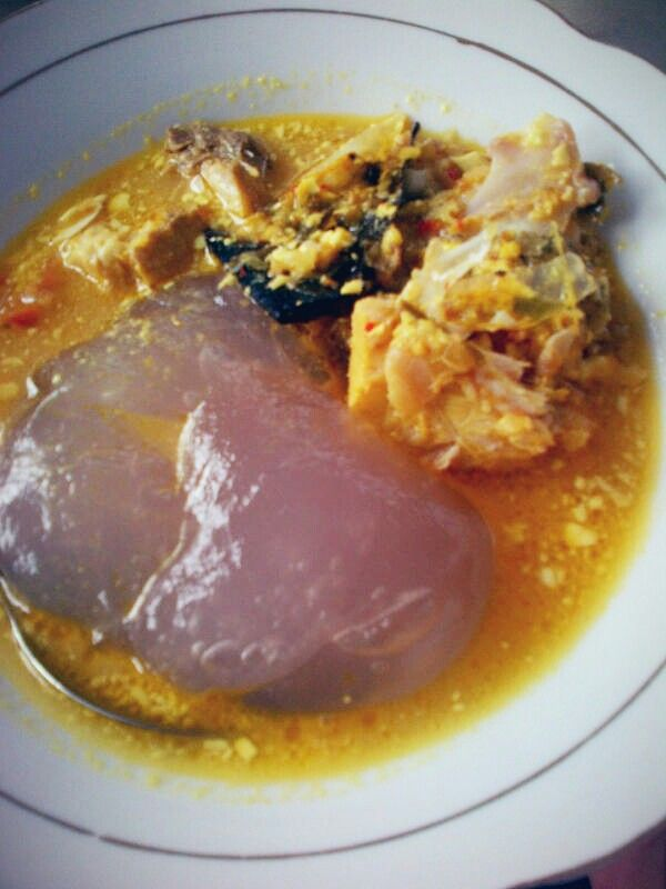 """Traditional food of Ambon The name is """"papeda"""""""
