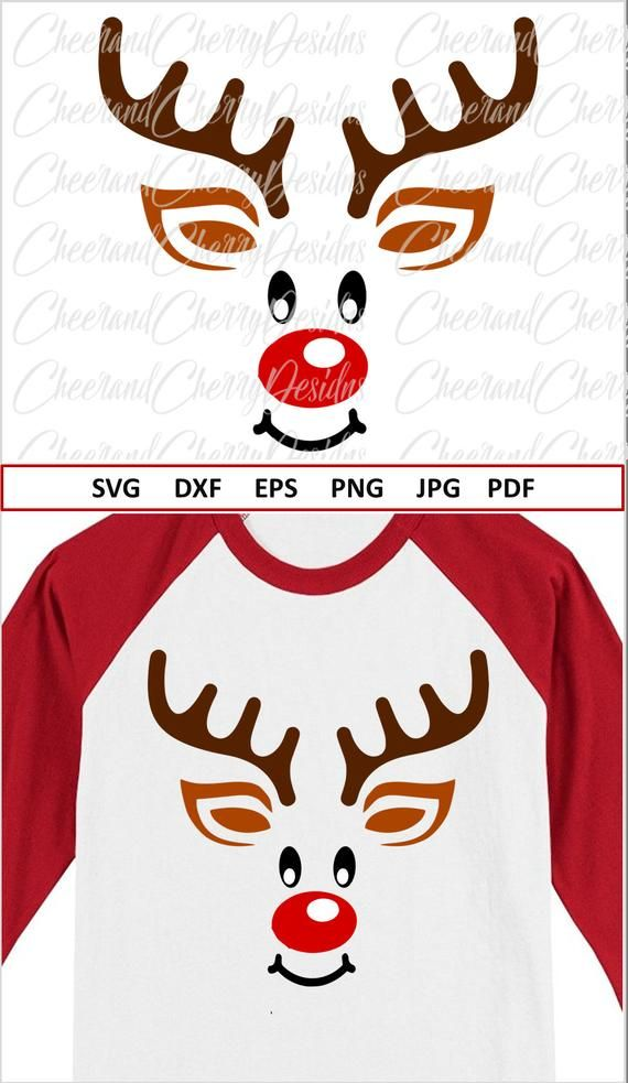 Shirt Craft Reindeer Svg Christmas Svg Cut File Silhouette Winter Svg Merry Christmas Svg Holiday Svg Cricut Eps Dxf Tree Svg Kits How To Craft Supplies Tools