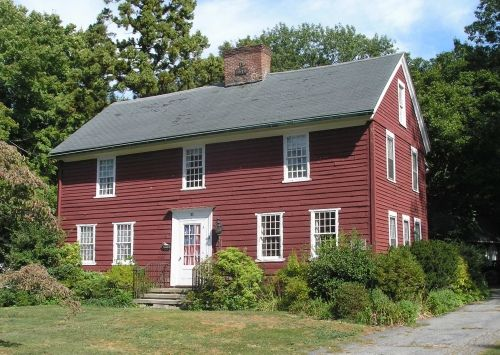 This landmark in Milford CT.  Thomas Buckingham was one of the original planters who settled Milford in 1639. The Buckingham House, on North Street in Milford, is said to have been built around 1640. The house, however, does not have the appearance of a First-Period seventeenth century house because it was remodeled after Jehiel Bryan, who married Esther Buckingham, acquired it in 1753; he served in the Revolutionary War.