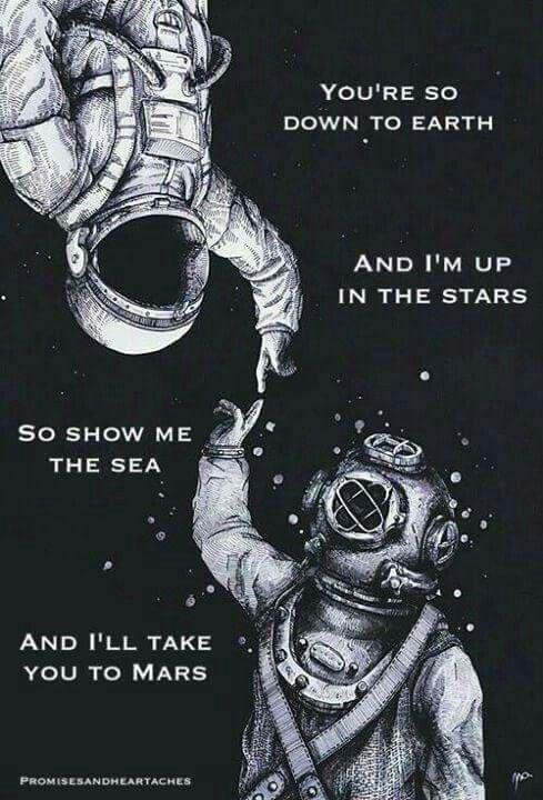Show me the sea and I'll take you to Mars.