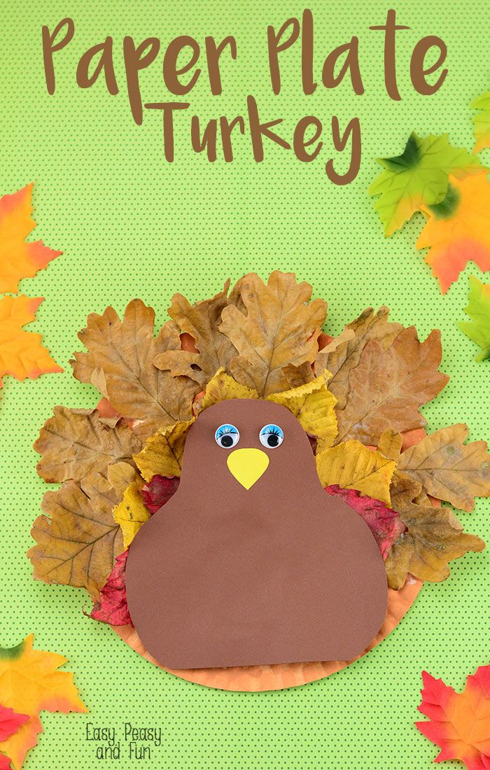 Paper Plate Turkey Craft  sc 1 st  Pinterest : fall paper plates - pezcame.com