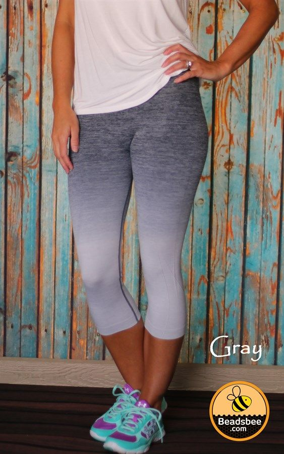 Your new favorite workout capris are here! These trendy cropped leggings are perfect to wear to the gym or for a mid day run. Our new Ombre Workout Capris are definitely going to make heads turn! 8 Colors, Size Small-XL!
