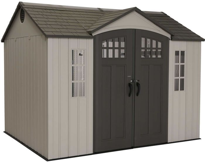 Lifetime 10x8 Side Entry Shed W Vertical Siding 60118 Shed Outdoor Storage Sheds Shed Storage