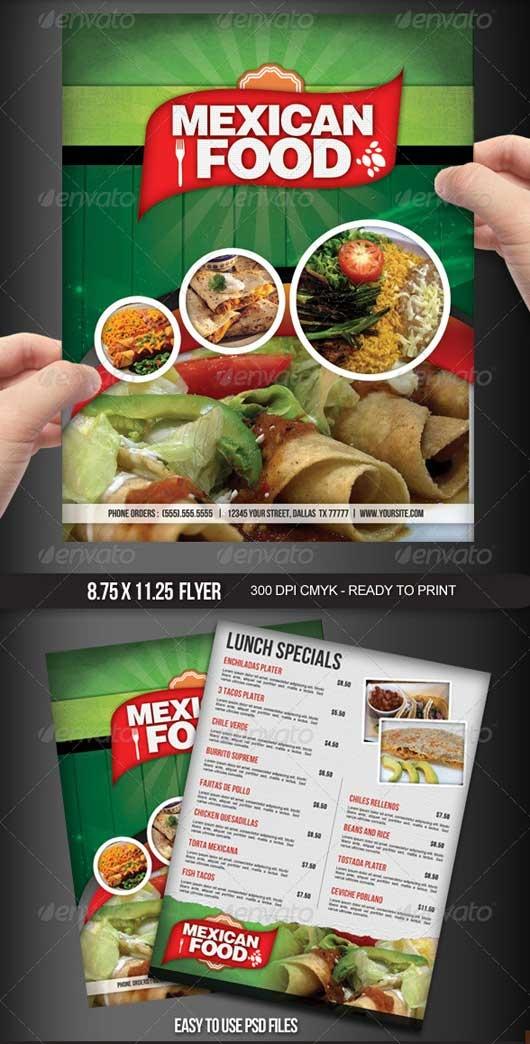 40 Commendable Food Menu Designs