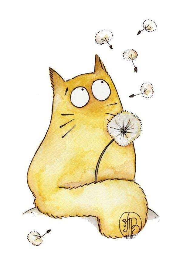 всего самый смешной кот рисунок занятых хозяек сделали