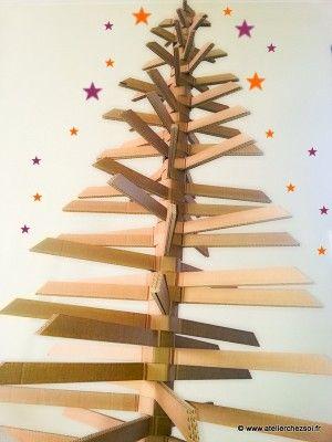 [DIY] Grand sapin en carton pour un Noël écolo - Créer ses meubles en carton