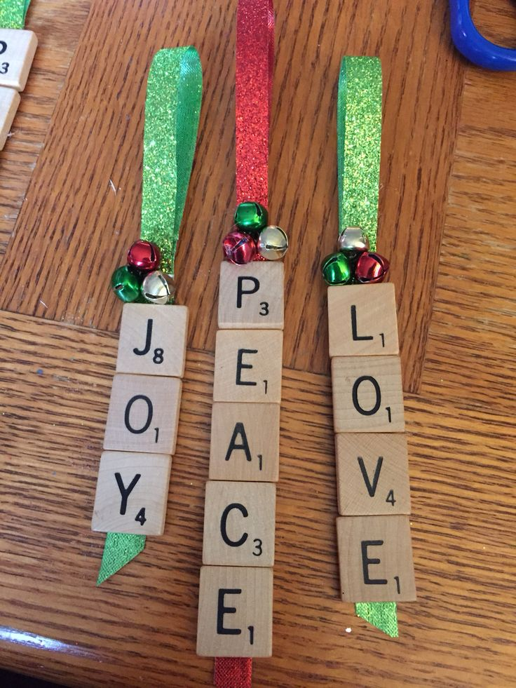 Homemade scrabble ornaments in 2020 Christmas ornament