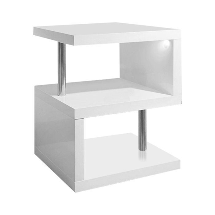 Sheehan Polar Side Table White Side Tables Modern Side