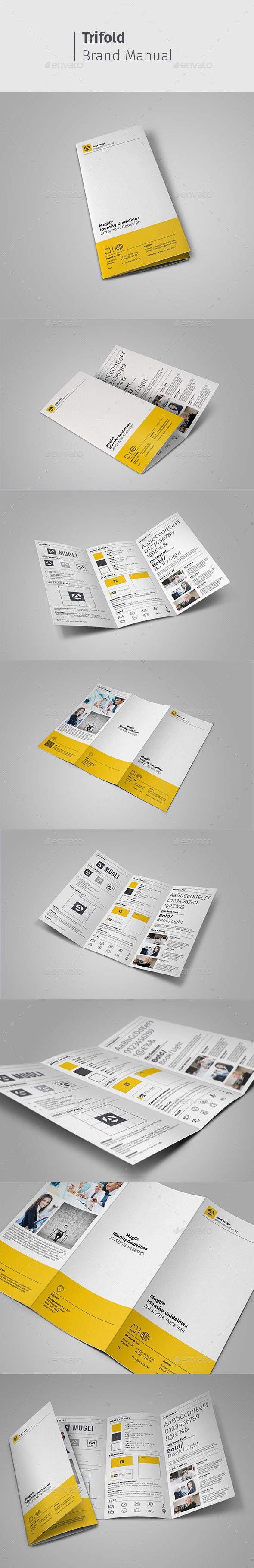 Brand Manual Brochure Template PSD #design Download: http://graphicriver.net/item/brand-manual/13250631?ref=ksioks
