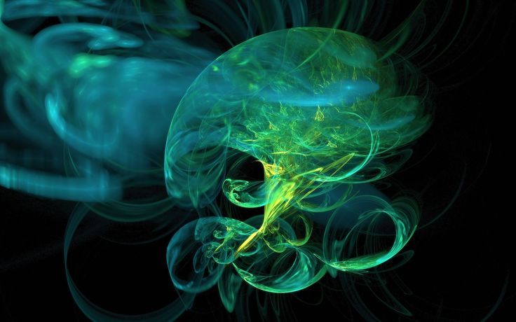 Jellyfish Green Abstract