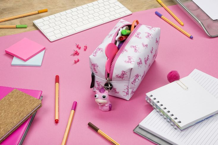 Unicorn pencil case for kids and adults. Unique, super roomy, square pencil case for school or university use. Perfect stationery accessory holder or make-up pouch. Light weight and high quality. Perfect back to school or Christmas present.