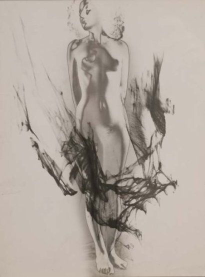 Nu solarisé, (surimpression), 1937 Épreuve gélati